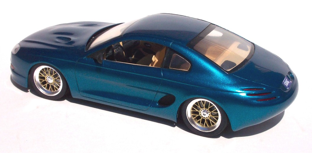 The Paint Is A Ford Automotive Spray Teal Color With Cream Tan Interior Wheels Are BBS From Now Defunct Choice Model Company